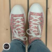En mode liberty pour aujourd'hui.. avec une semelle compensée pour gagner de la hauteur 😊 #converse #converseallstar #converseplatform #converseliberty #sneakers #sneakersaddict