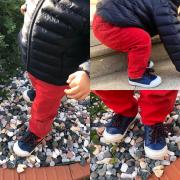Prêt à crapahuter 🤗 Chaussures tout en cuir avec lacets + le zip sur le côté.. parfait pour les pieds de bébé !! #frromagnoli #chaussuresbébé